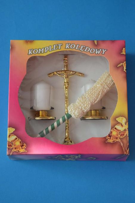 Obrazek Komplet kolędowy papieski złoty 23