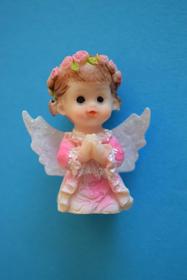 Obrazek Aniołek w woreczku, kolor różowy