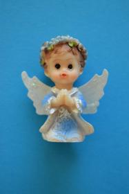 Obrazek Aniołek z pudełkiem, kolor niebieski