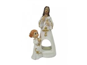 Obrazek Figurka Pan Jezus z dziewczynką